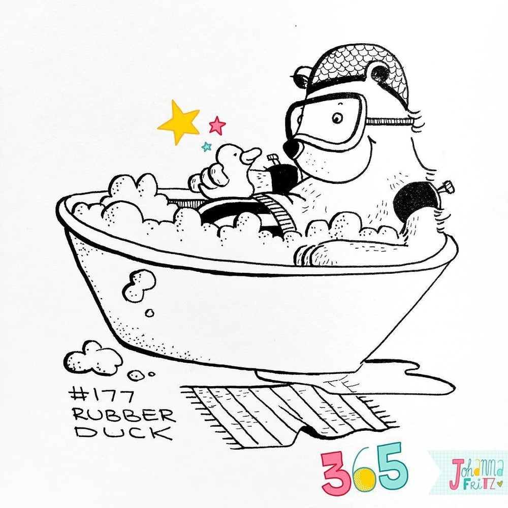 Topic: Rubber duck- By Johanna Fritz Illustration