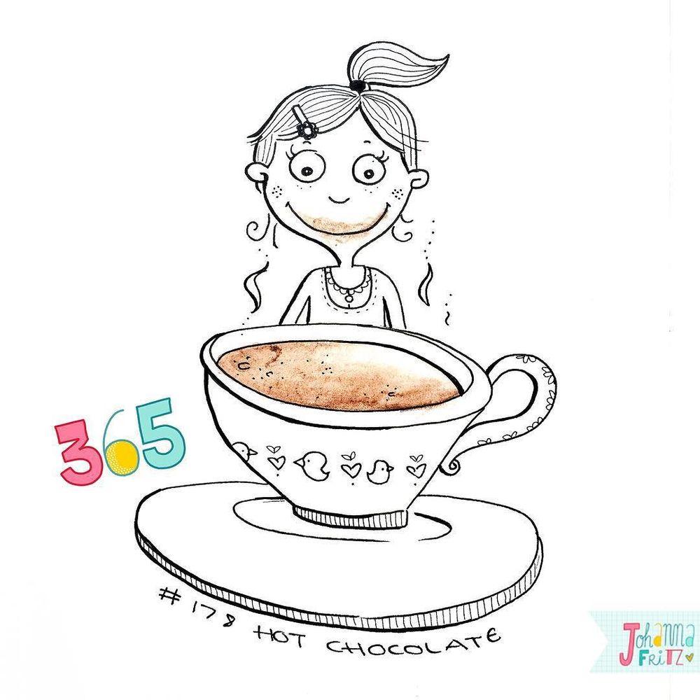 Topic: Hot chocolate- By Johanna Fritz Illustration