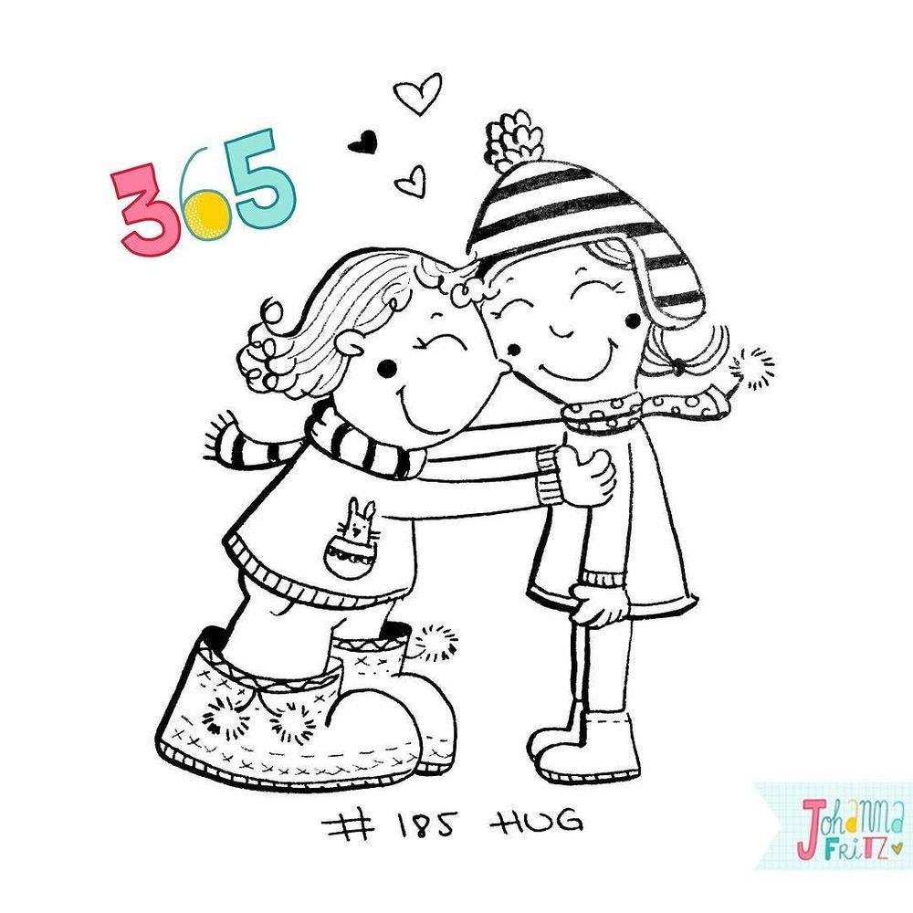 Topic: Hug- By Johanna Fritz Illustration