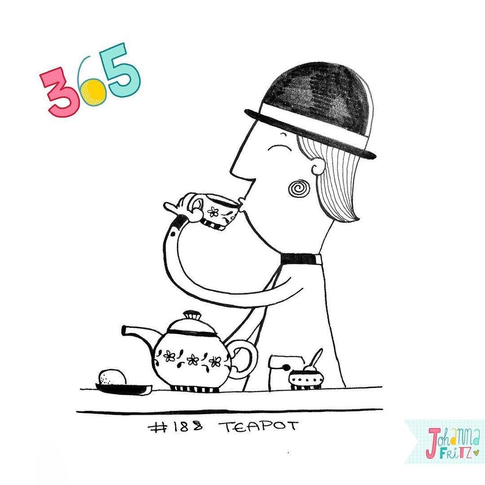 Topic: Teapot- By Johanna Fritz Illustration