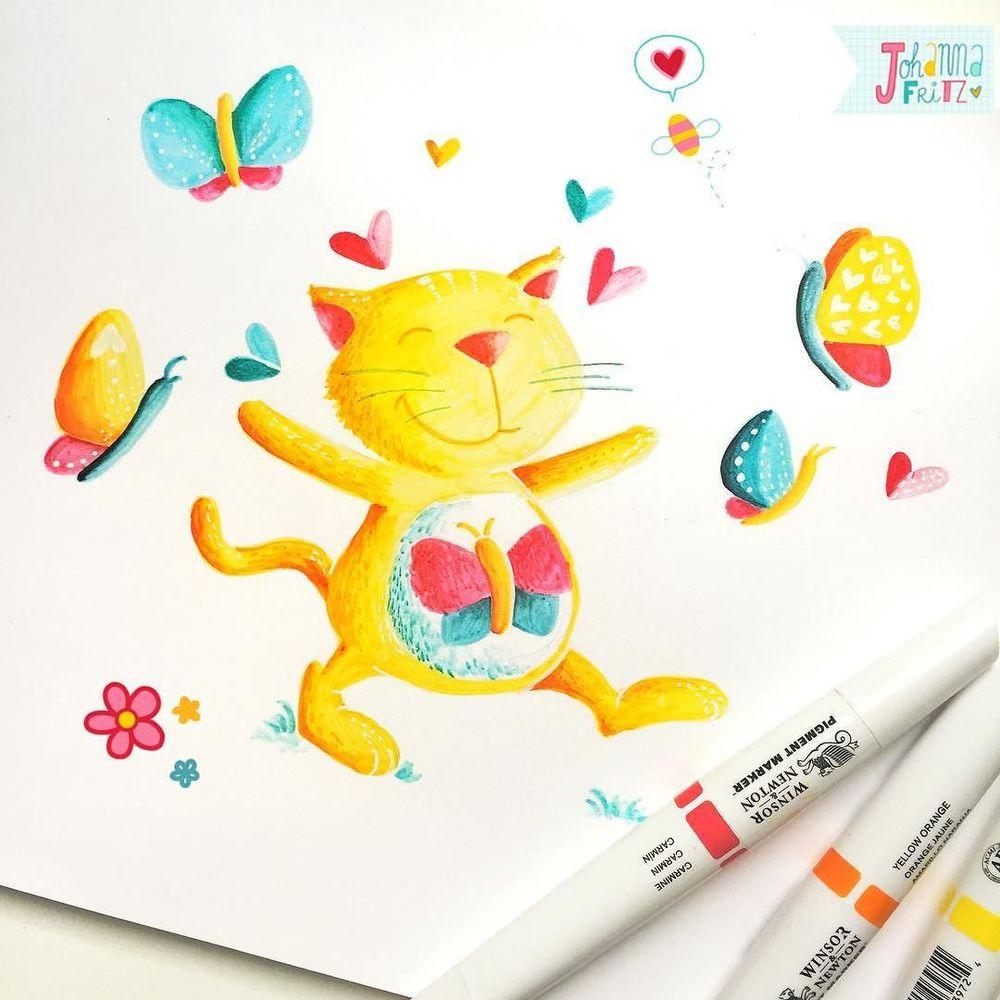 Topic: Cat- By Johanna Fritz Illustration