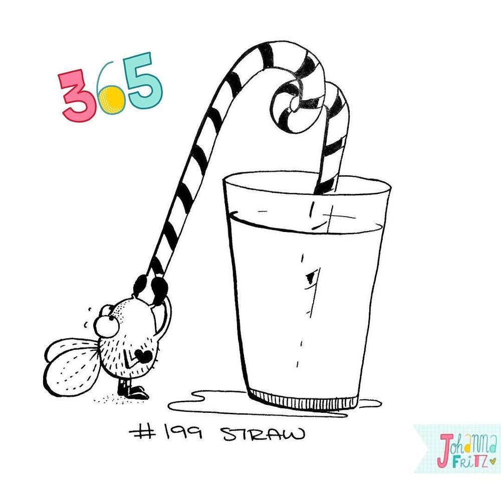 Topic: Straw- By Johanna Fritz Illustration