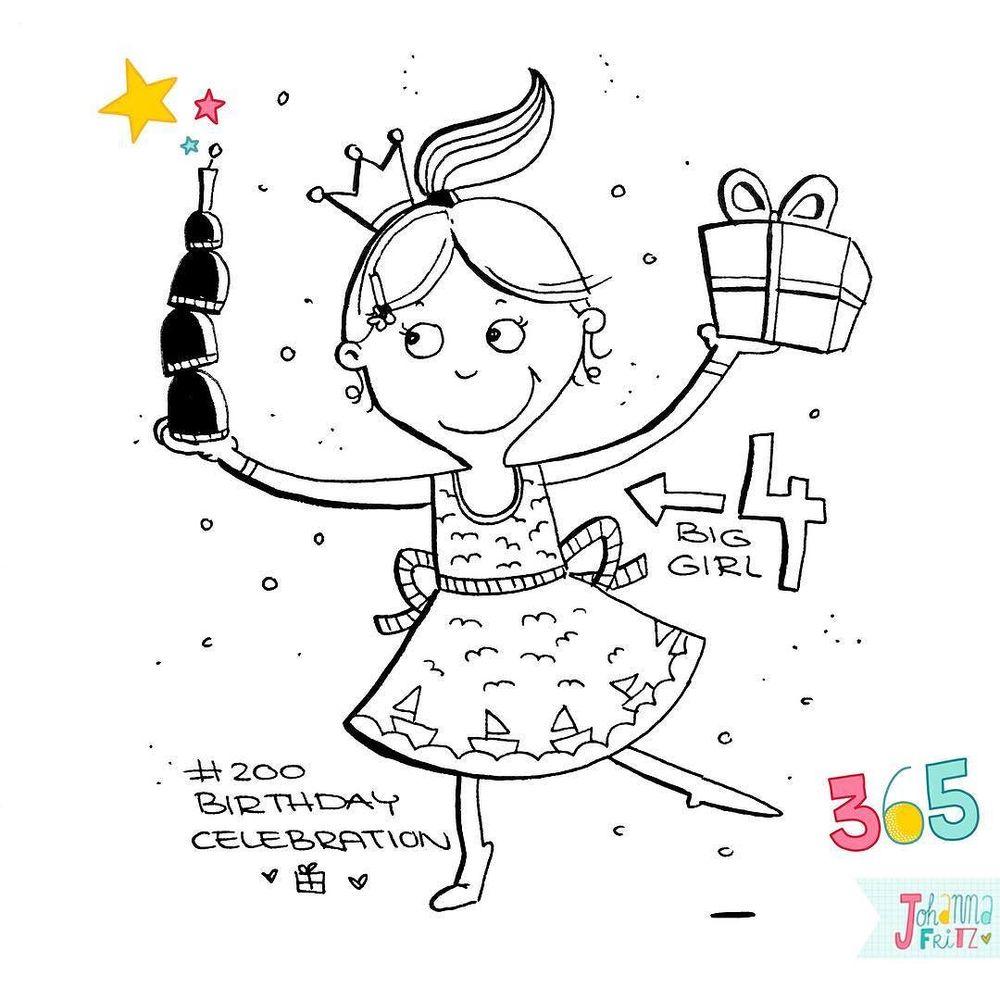Topic: Birthday celebration- By Johanna Fritz Illustration