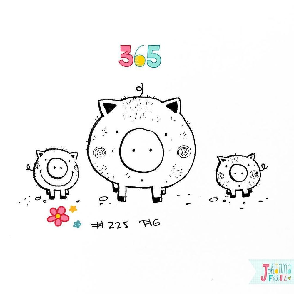 Topic: Pig- By Johanna Fritz Illustration