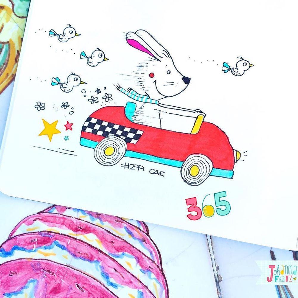 Topic: Car- By Johanna Fritz Illustration