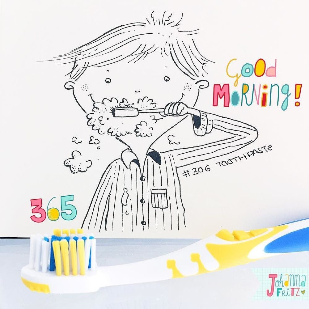 Topic: Toothpaste- By Johanna Fritz Illustration