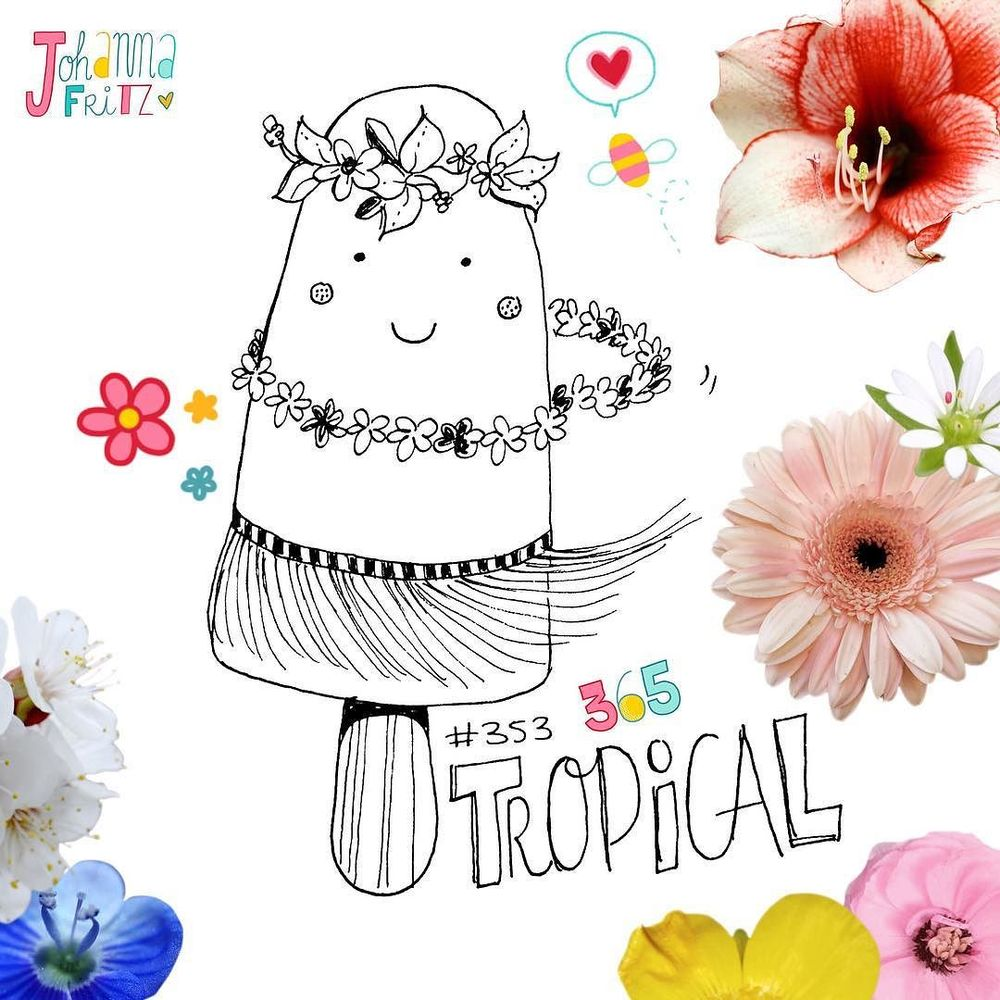 Thema: Tropisch/ Tropical- By Johanna Fritz Illustration