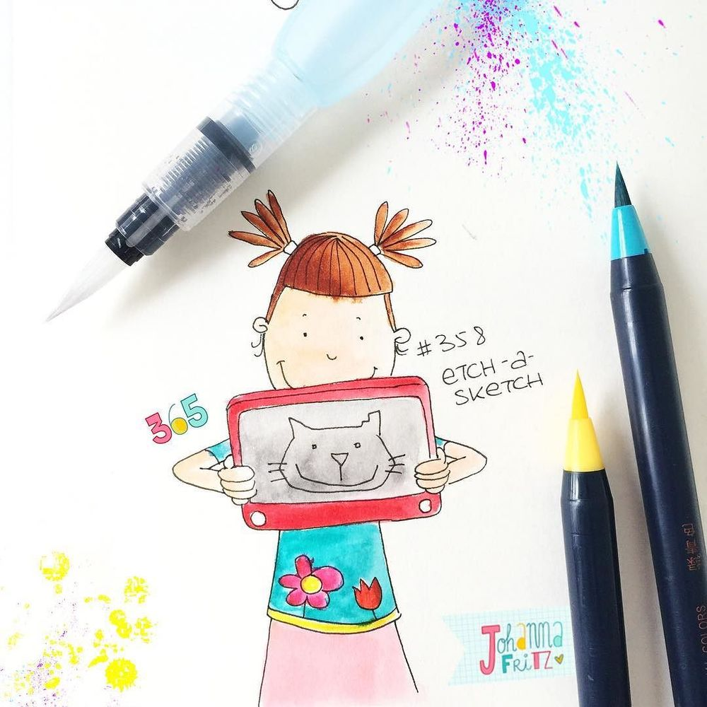 Thema: Etch a sketch- By Johanna Fritz Illustration