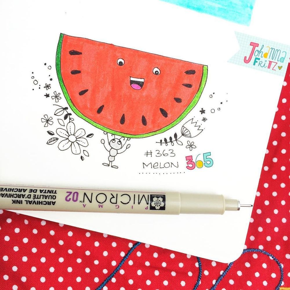 Thema: Wassermelone/ Watermelon- By Johanna Fritz Illustration