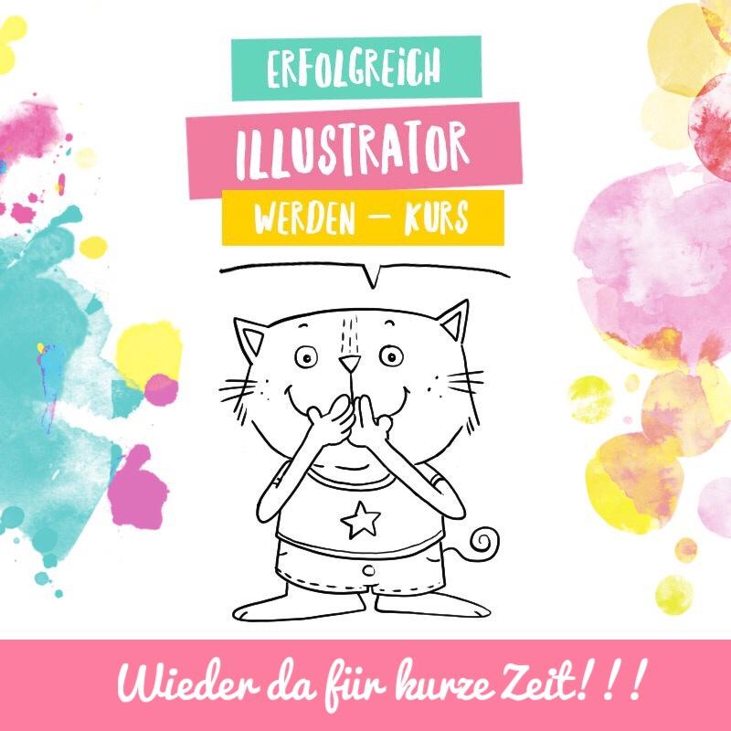 """2Erfolgreich Illustrator werden"""" Onlinekurs"""
