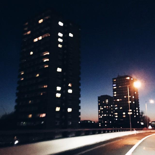 Back in #london ... #smog #black #blue #evening