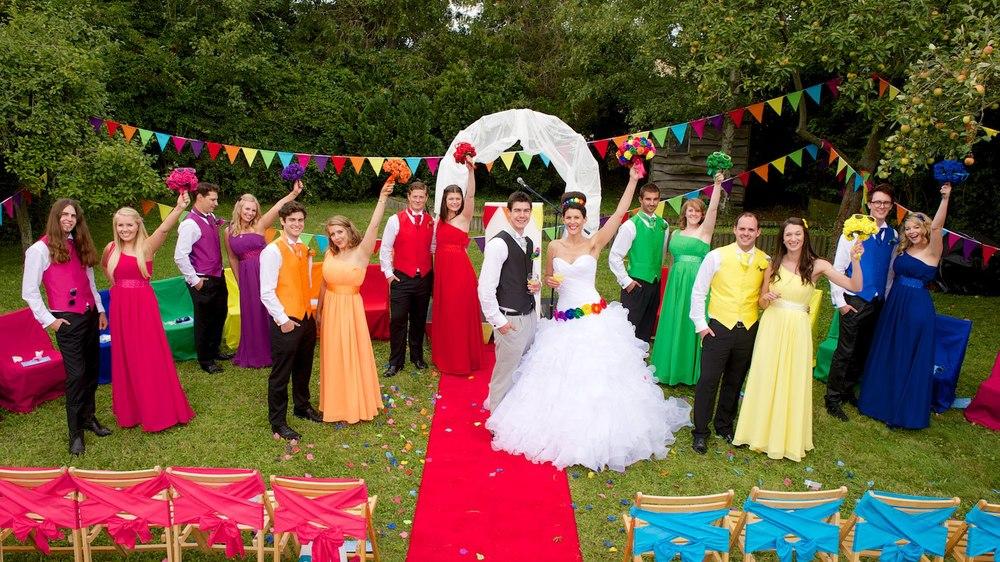 Amy & James Rainbow Wedding