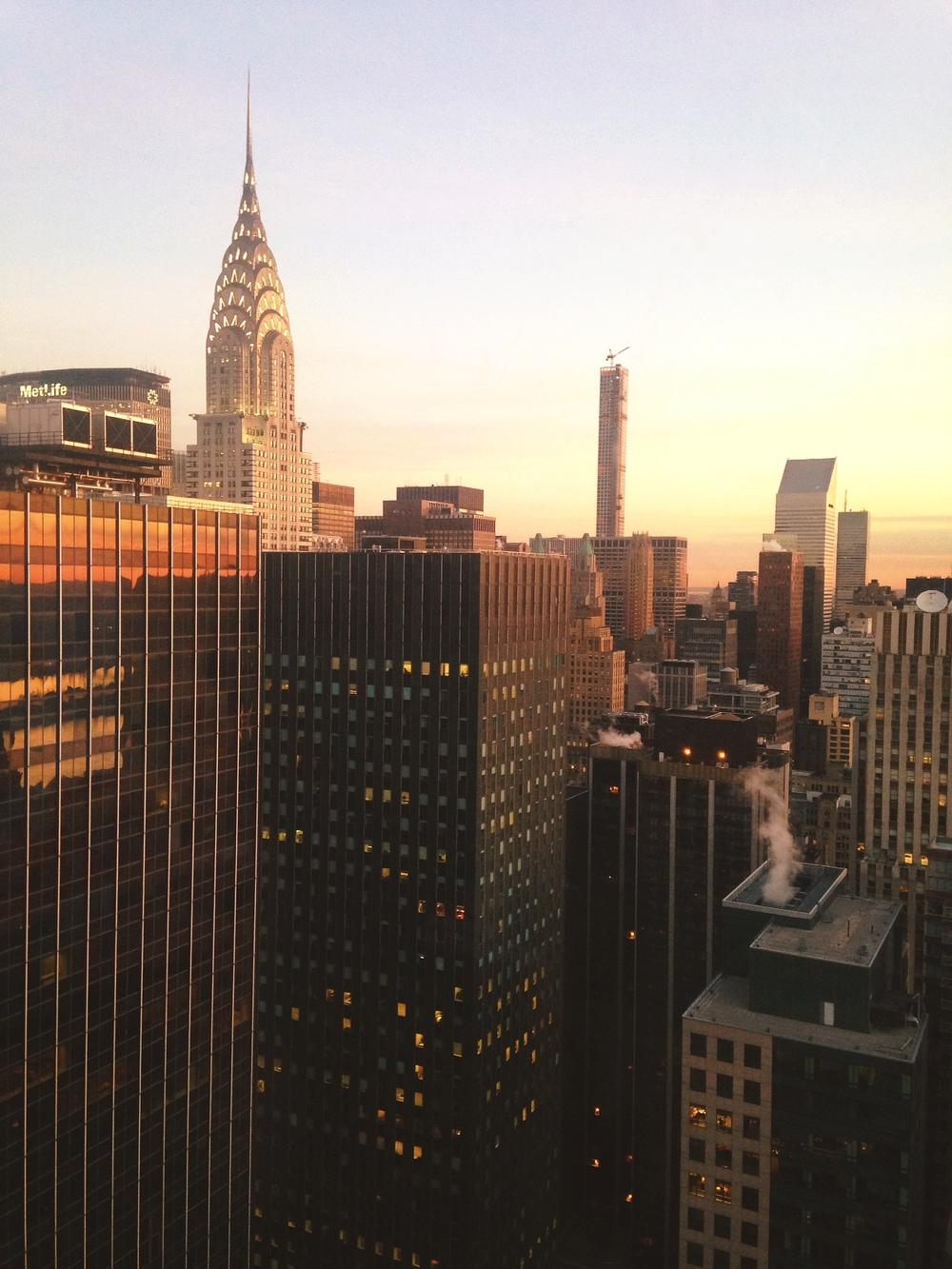 Sunrise in NYC.