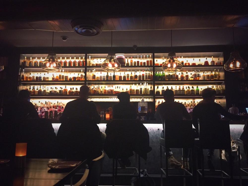 Bar guests at Sanfords, Astoria,January 2016