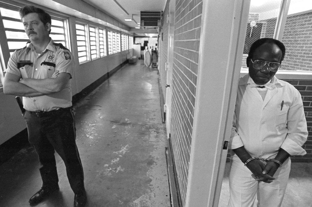 Herbert and prison guard
