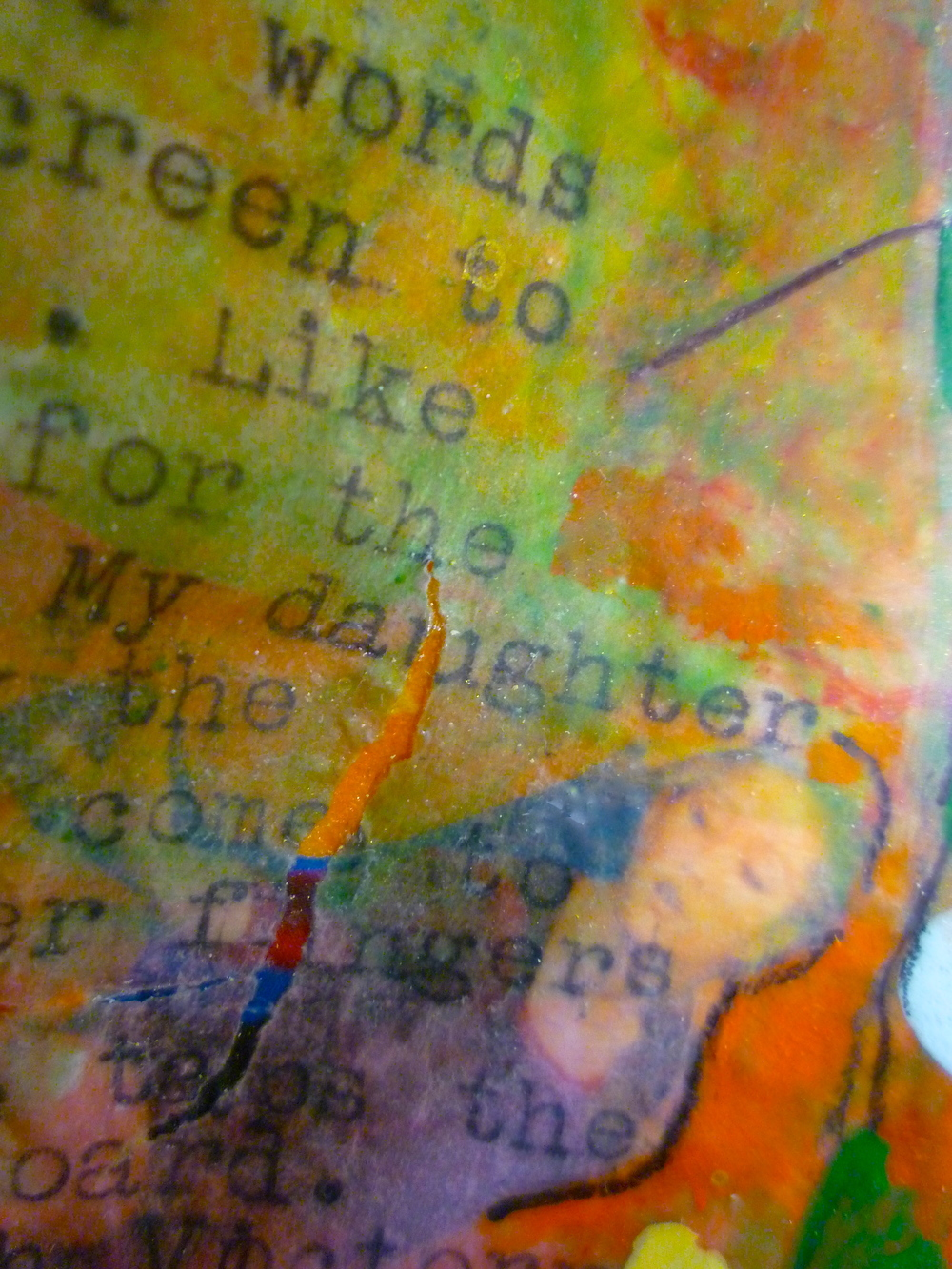 Nike. Inside Detail.   My daughter was 22 and looking for a job when I began this sculpture. Determined, she sat at the kitchen table every day and sent messages out into the internet miasma; to the gods, so to say. I watched her position herself to move out into the world, to turn her back on me, the mother, Hera, and the home.
