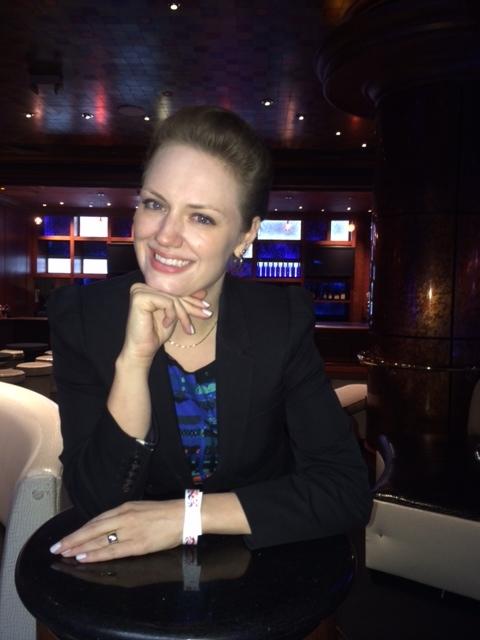 Charlotte enjoys the Reno nightlife