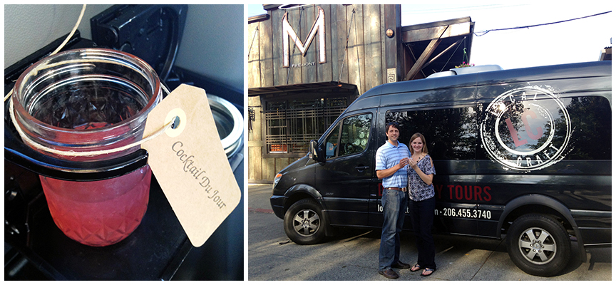 Brittany and Daniel hop aboard their van local distilleries.