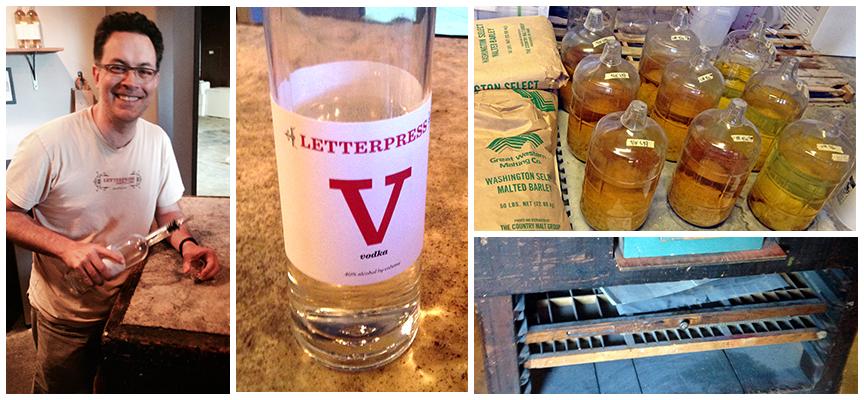 Letterpress Distilling owner Skip serves 'em up fresh.