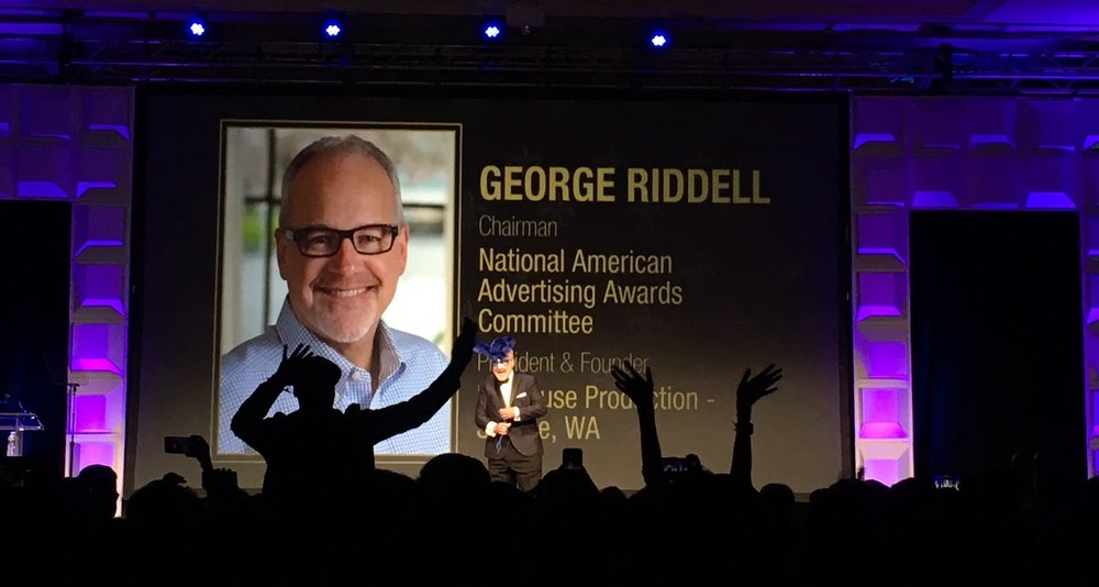 Seattle's own George Riddell is introduced at ADmerica 2017
