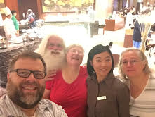 Santa visiting good children in Tokyo!