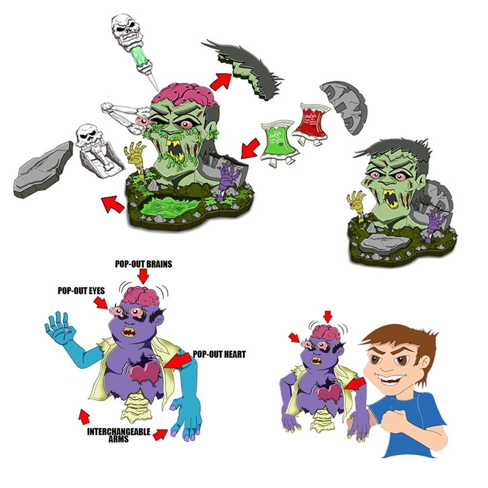 Zombie playset/Zombie puppet