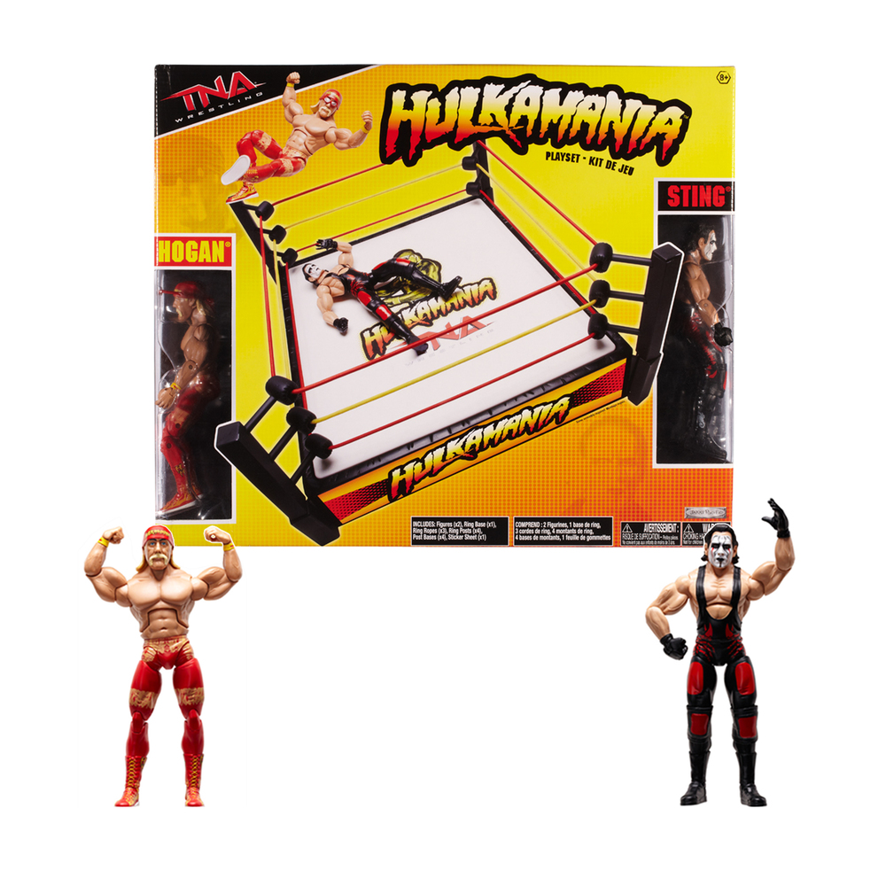 """Hulkamania"" Wrestling Ring w/ figures"