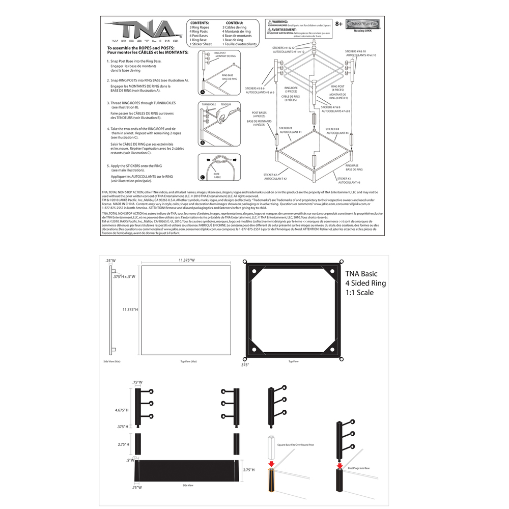 """Hulkamania"" Wrestling Ring (Instruction Sheet)/  Control Art"