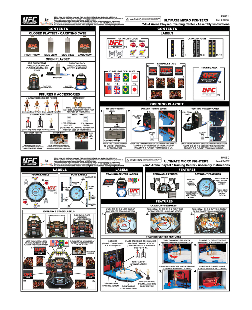 UFC Micro Playset (Instruction Sheet)