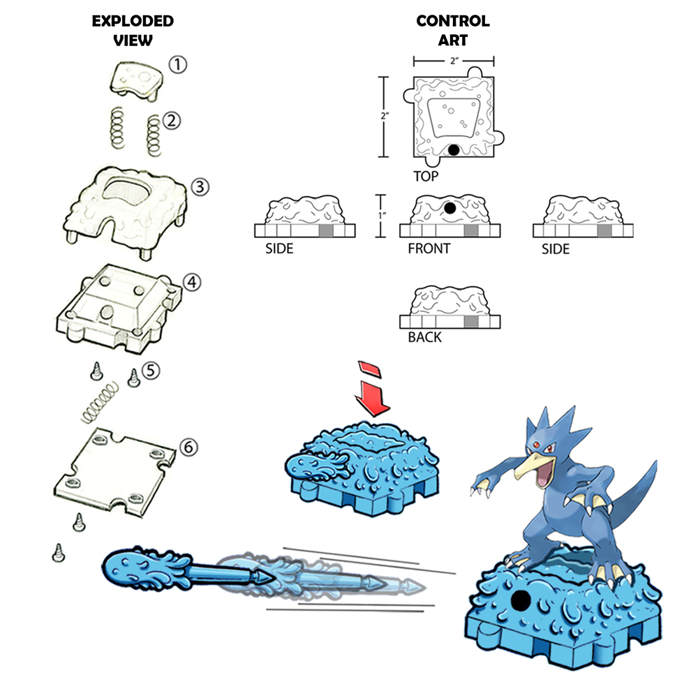 Pokemon Battle Links (Mini Water Type)  Exploded Art/Control Art/Concept Art