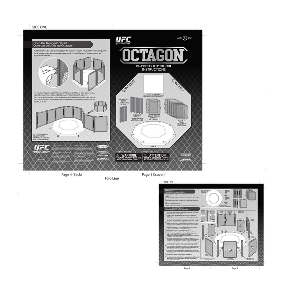 UFC Basic Octagon (Instruction Sheet)