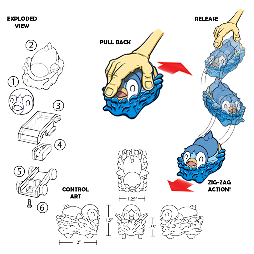 Pokemon Racer Chasers (Exploded Art/Concept Art/Control Art)