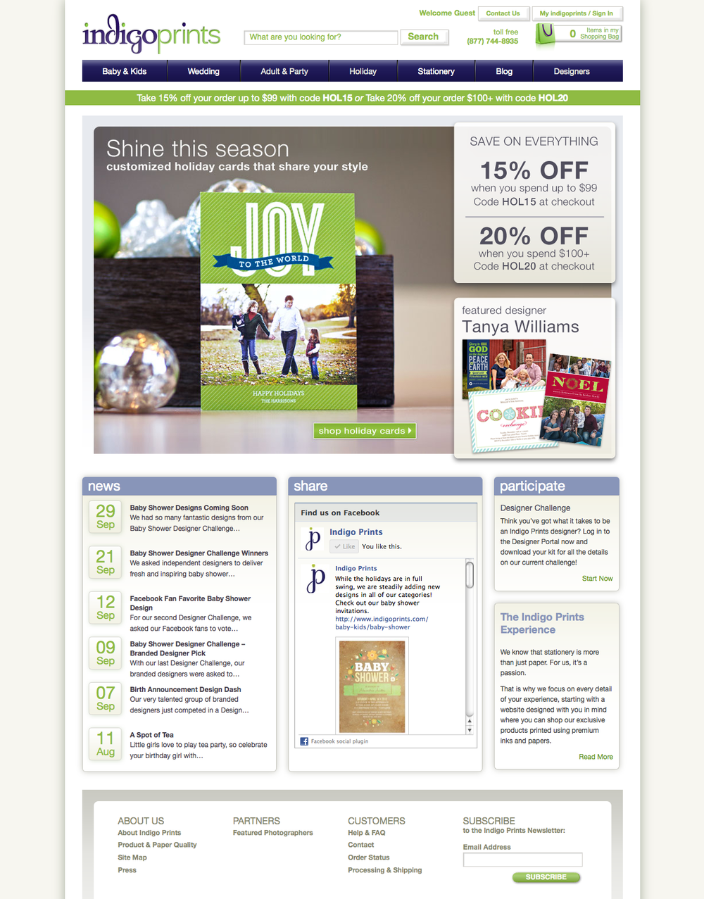 Indigo Prints Website