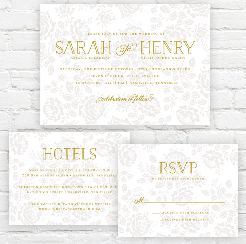 Garden Wedding Invitations by J. Amber Creative