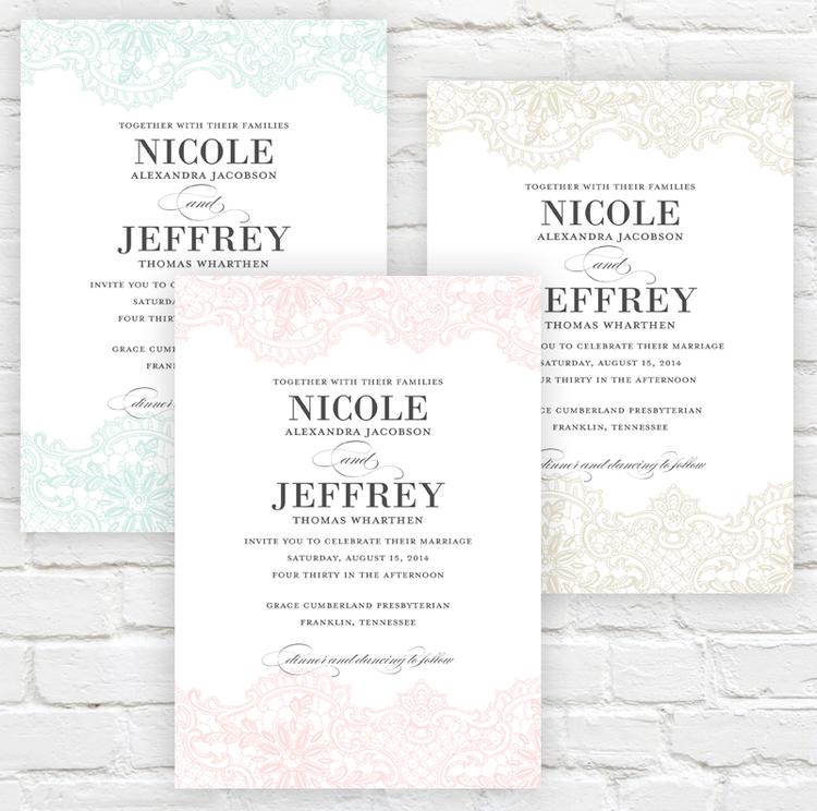 Lace Elegance — Jessica Williams Paper | Nashville Wedding ...