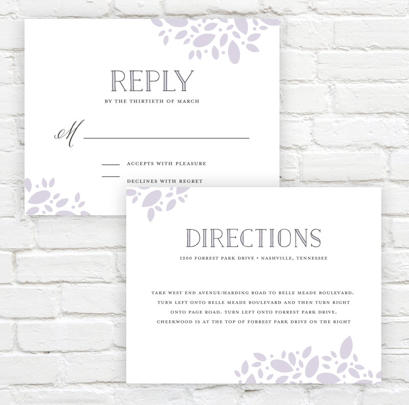 Scattered Leaves Wedding Invitation by J. Amber Creative