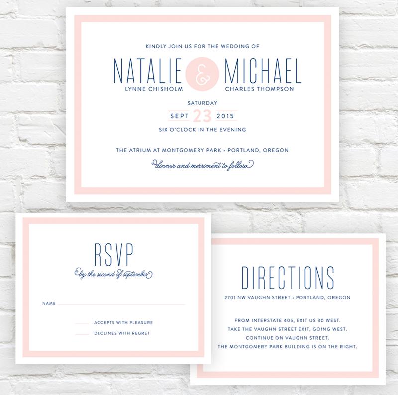 Semplice Wedding Invitation by J. Amber Creative