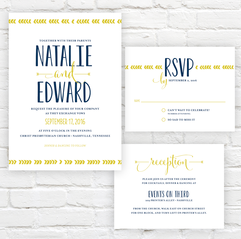 Directional Wedding Invitation by J. Amber Creative