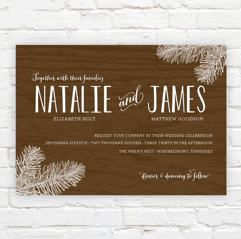 Woodsy Wedding Invitation by J. Amber Creative