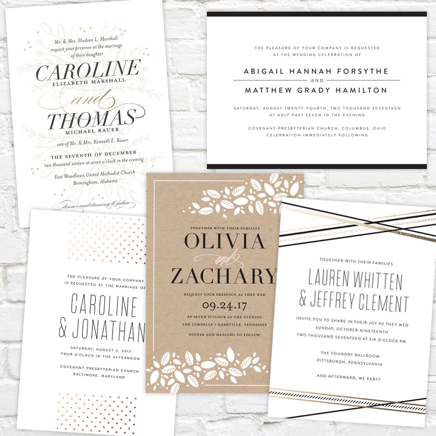 J. Amber Creative Wedding Invitations
