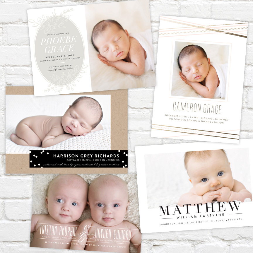 J. Amber Creative Birth Announcements
