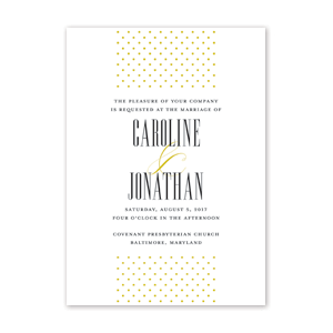 Dotted Wedding Invitation by Jamber Creative
