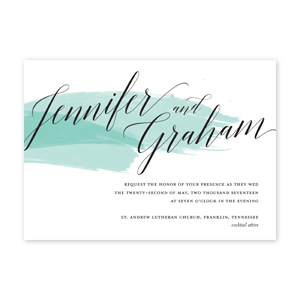 Brushed Wedding Invitation by Jamber Creative