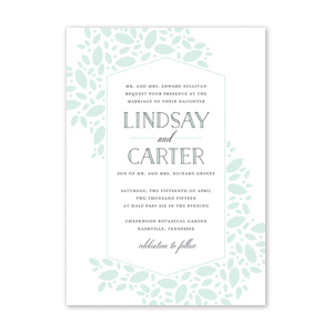 Scattered Leaves Wedding Invitation by Jamber Creative