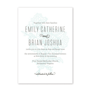 Organic Blooms Wedding Invitation by Jamber Creative
