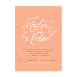 Monochrome Wedding Invitation by Jamber Creative
