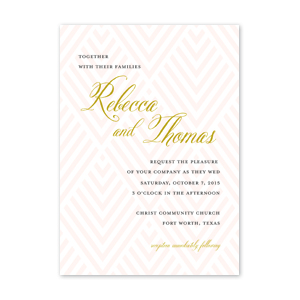 Optical Argyle Wedding Invitation by Jamber Creative
