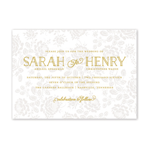Garden Blooms Wedding Invitation by Jamber Creative