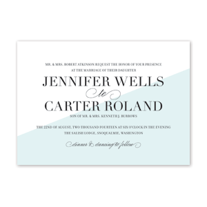 Swipe Wedding Invitation by Jamber Creative
