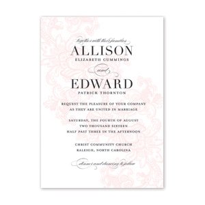 Soft Lace Wedding Invitation by Jamber Creative